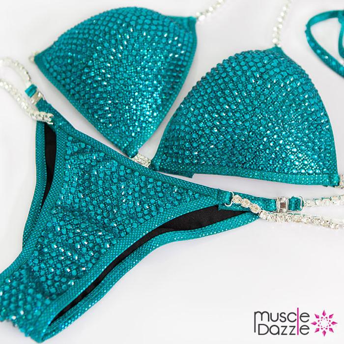 Blue Zircon Bikini Competition Suit
