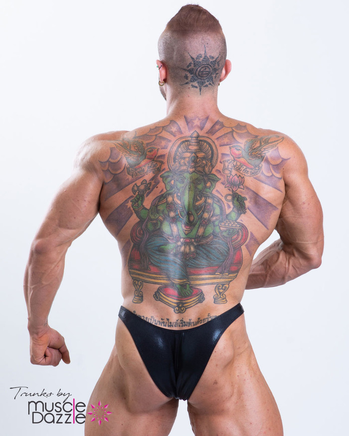1bc238deaf3e7 Black Bodybuilding Posing Trunks | 'awesome design'