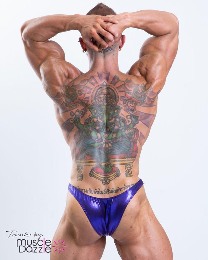 MEN/'S DARK RED POSING SATIN SUIT TRUNKS BODYBUILDER Muscle $60.00 MEDIUM NEW