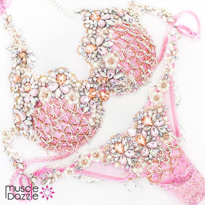 Light pink diva fitness competition bikini