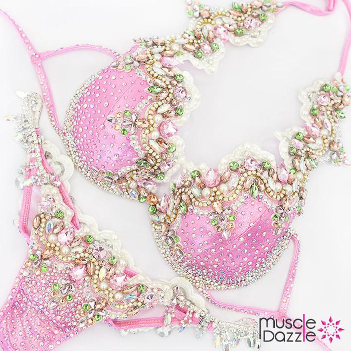 Pink Bikini Diva Competition Suit