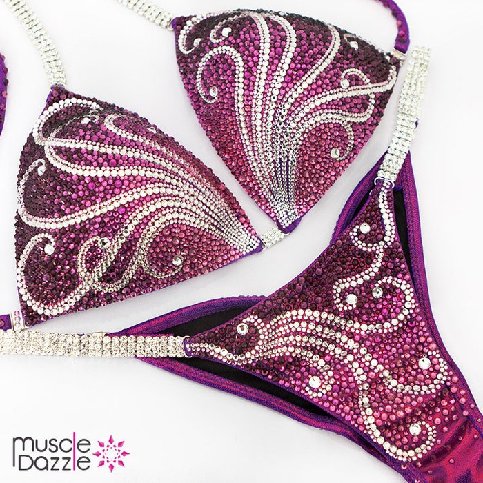 Purple competition bikini