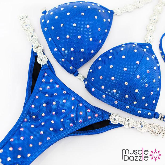 Affordable royal blue competition bikini