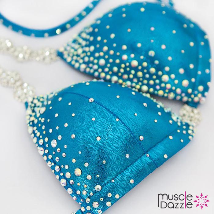 Affordable Blue Crystal Competition Bikini CB580