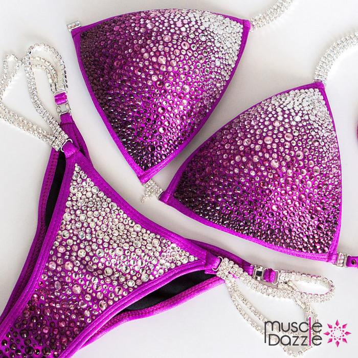 Swarovski Magenta Competition Bikini