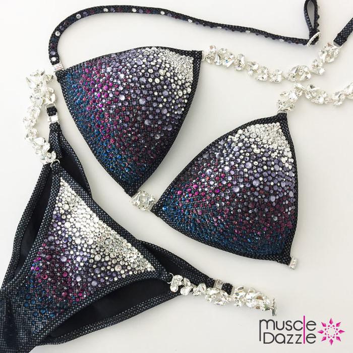 Black Swarovski Competition Bikini
