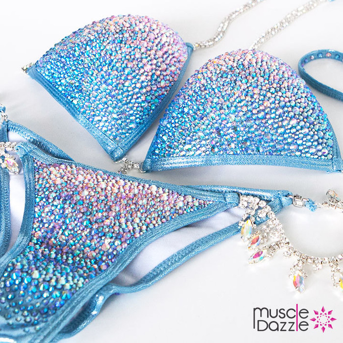 Baby Blue Swarovski Competition Bikini