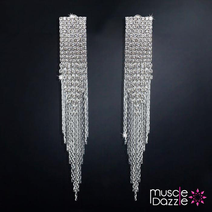 Chandelier Earrings   Crystal Bikini Competition Jewelry