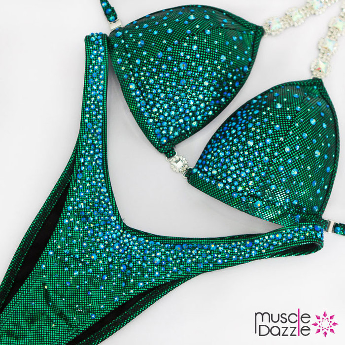 Affordable green figure suit