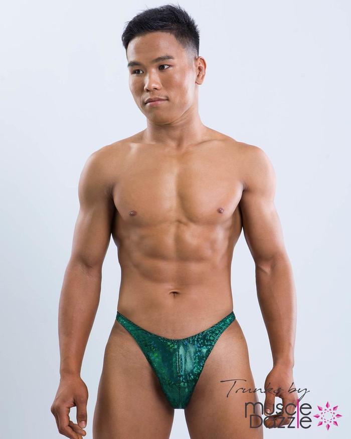 Dark Green Bodybuilding Posing Trunks