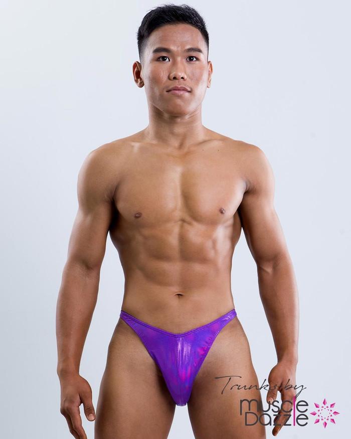 Purple Blue Posing Trunks
