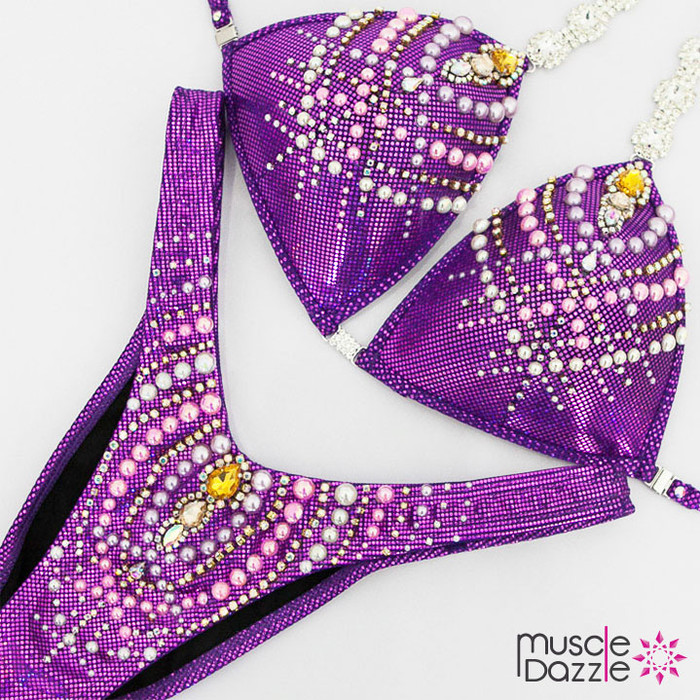 Purple Figure Competition Suit