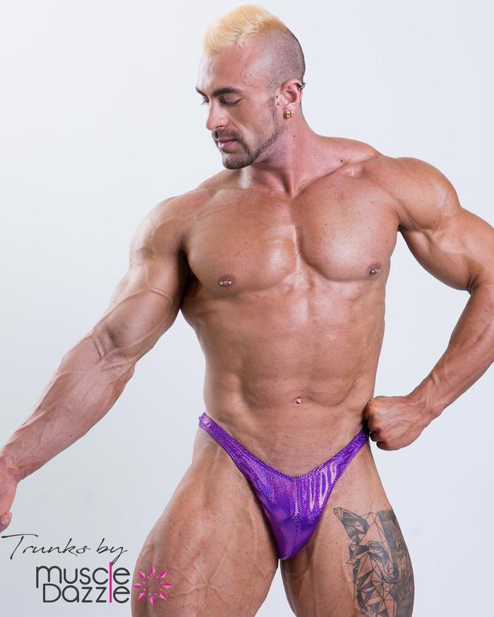 Purple Bodybuilding Posing Trunks