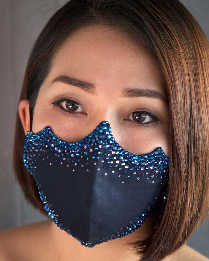 Dark Blue Crystal Mask (FM002-BL)