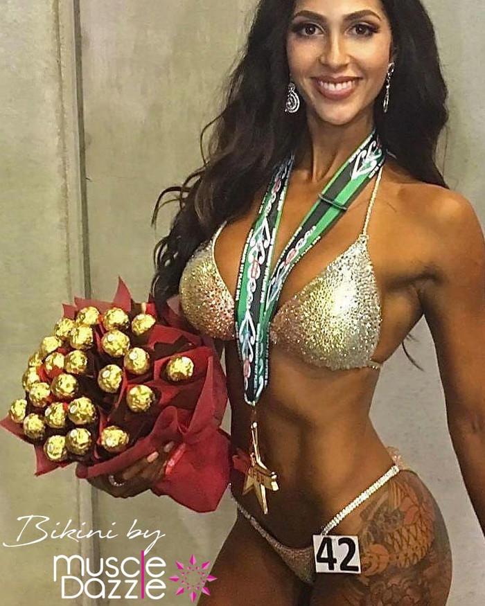 Rose Gold Crystal Competition Bikini