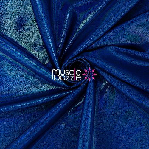 Blue competition bikini spandex fabric
