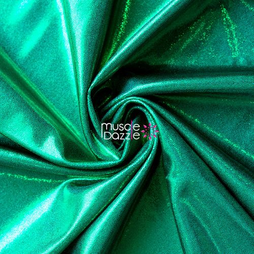 Green competition bikini spandex fabric