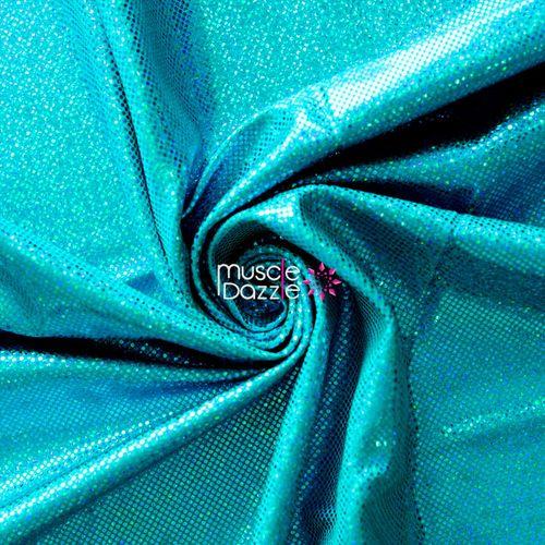 Teal competition bikini spandex fabric