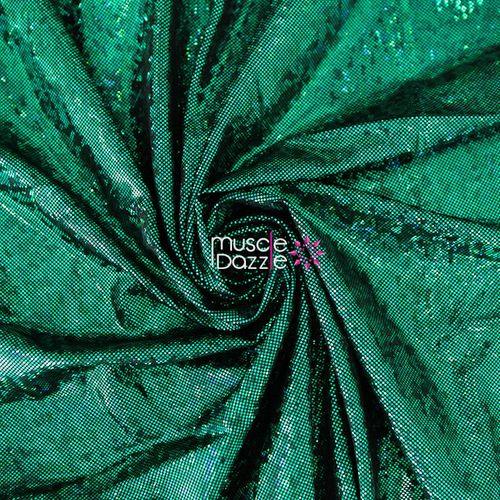 Dark green competition bikini spandex fabric