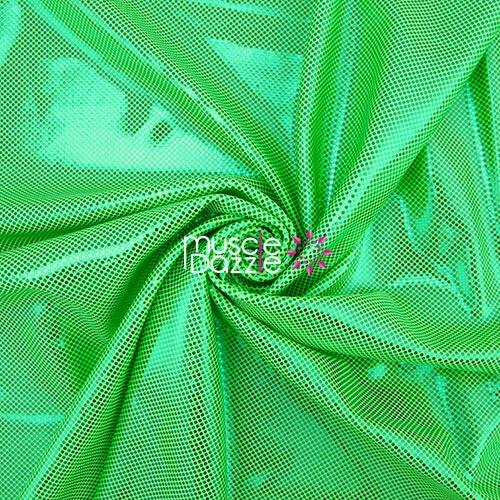 Fluro green competition bikini spandex fabric