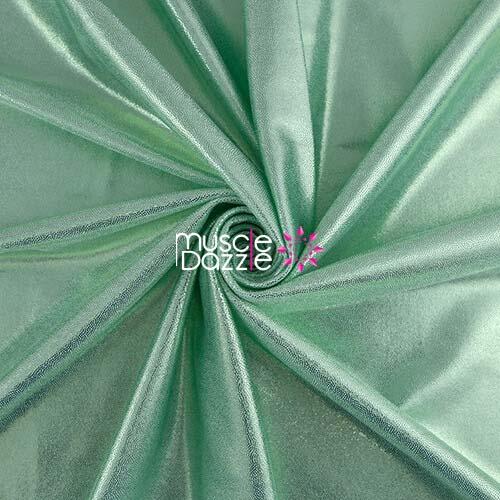 Mint competition bikini spandex fabric