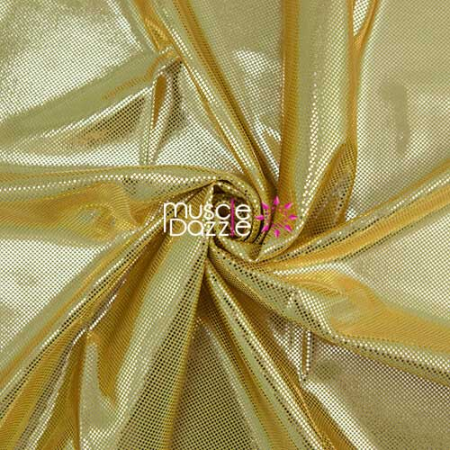 Gold competition bikini spandex fabric