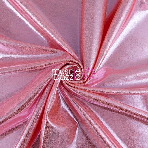 Peach competition bikini spandex fabric