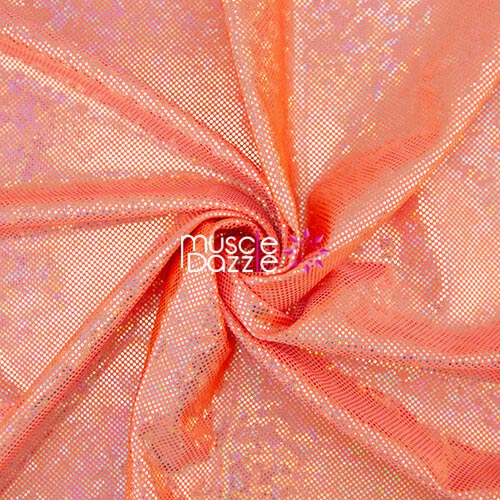 Orange competition bikini spandex fabric