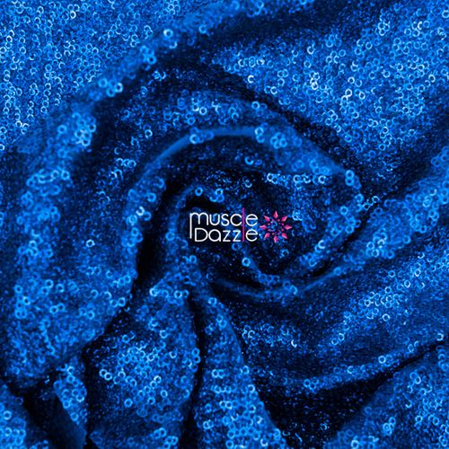 Royal blue competition bikini sequin fabric