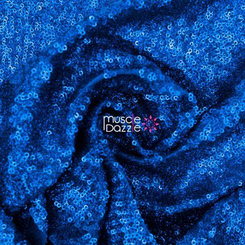 Royal blue competition bikini sequin fabric