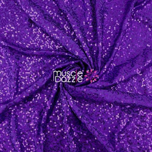 Royal purple competition bikini sequin fabric