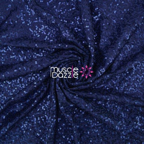 Navy blue competition bikini sequin fabric