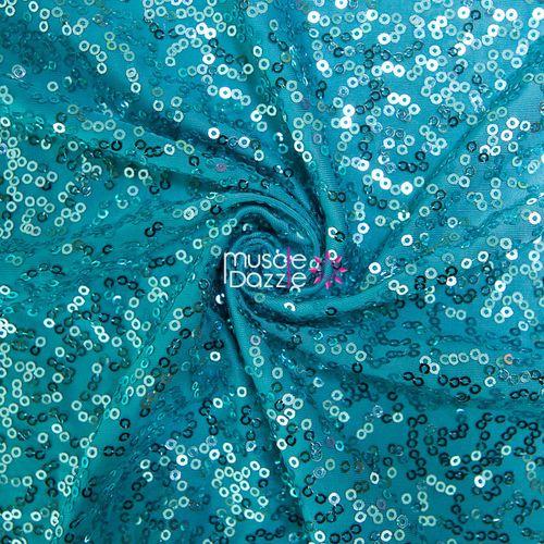 Aqua blue competition bikini sequin fabric