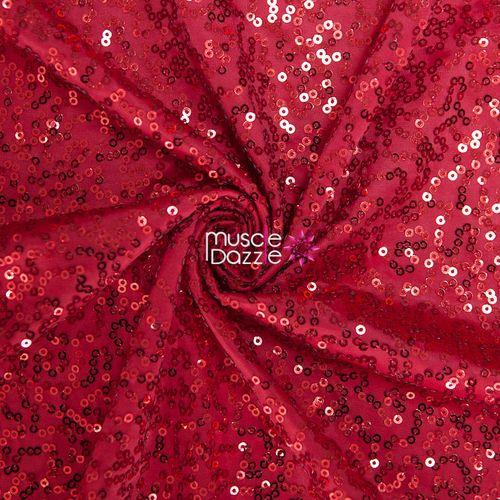 Red competition bikini sequin fabric