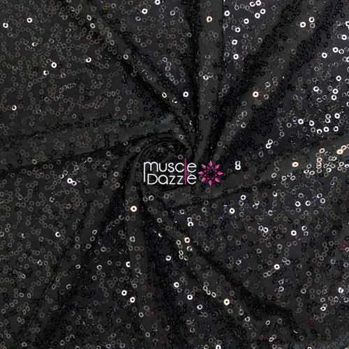 Black competition bikini sequin fabric