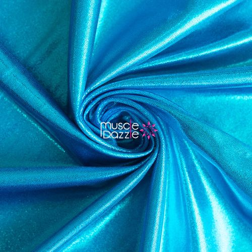Aqua blue competition bikini spandex fabric