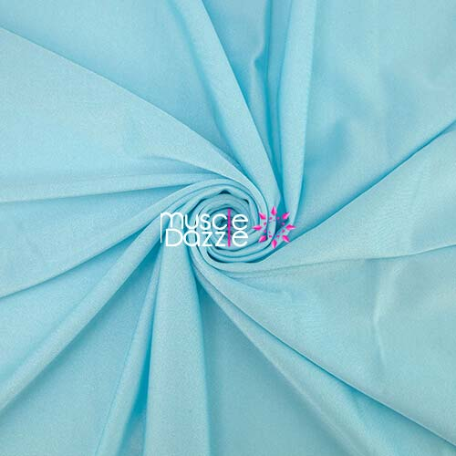 Light blue competition bikini spandex fabric