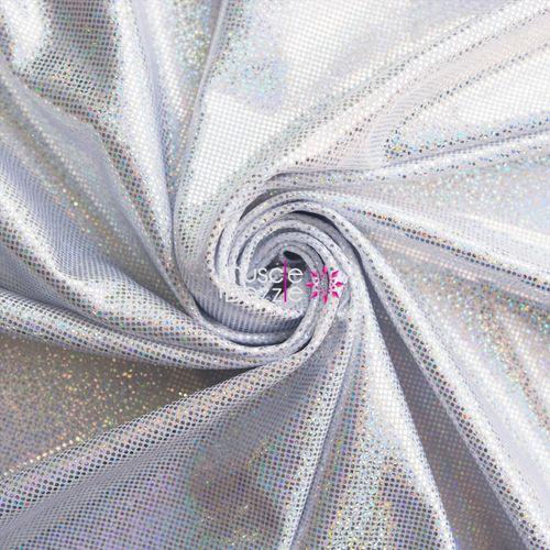 Silver / White competition bikini spandex fabric