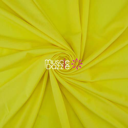 Yellow competition bikini spandex fabric