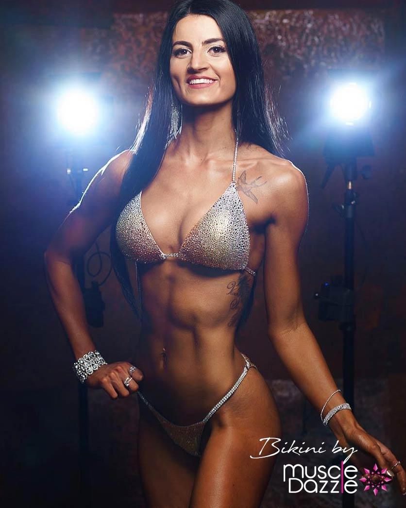 Gold ombre competition bikini