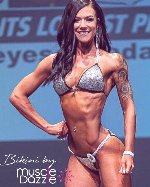 Silver competition bikini