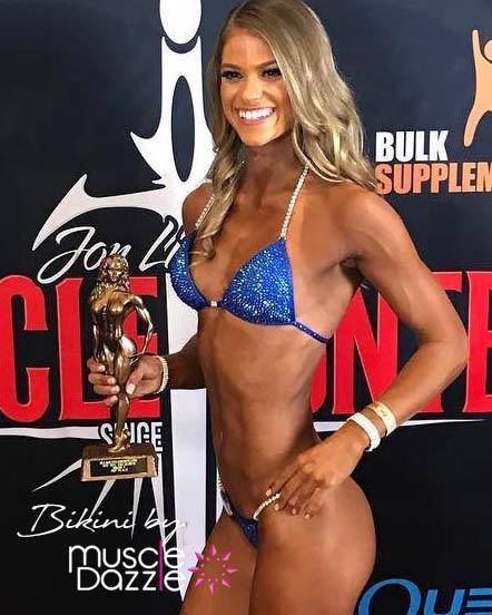 Blue competition bikini