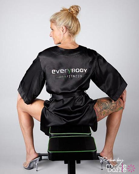 Black Personalized Competition Robe