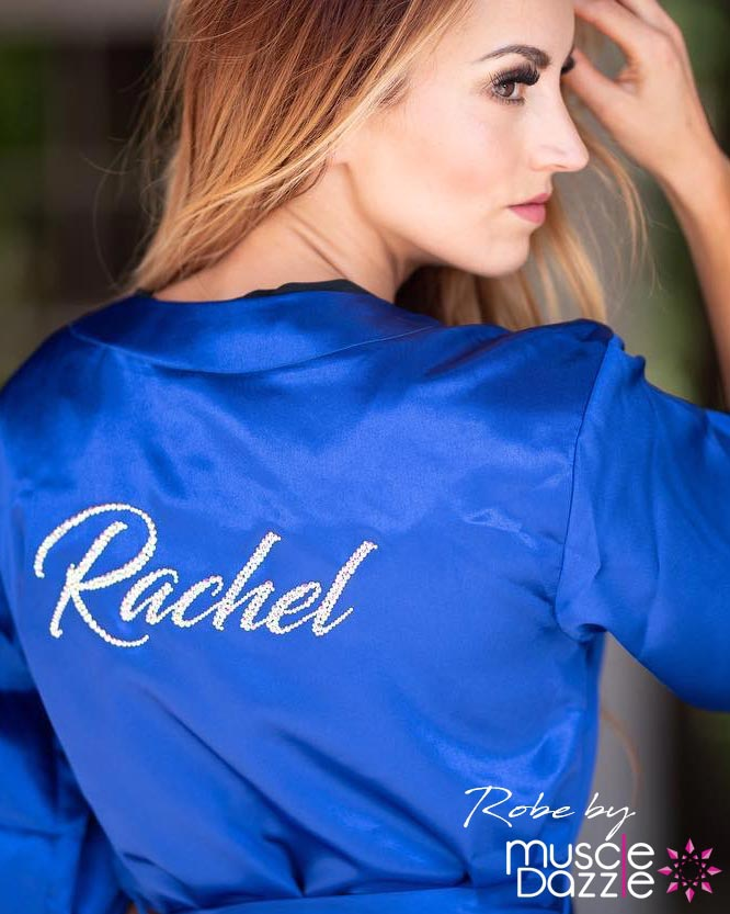 Blue Personalized Competition Robe