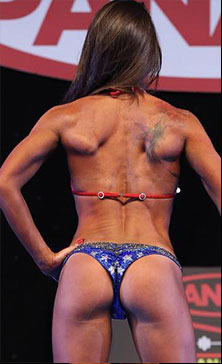 Brazilian cut Wonderwoman competition bikini