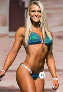 Green/Blue competition bikini