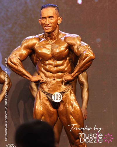 Black Bodybuilding Posing Trunks