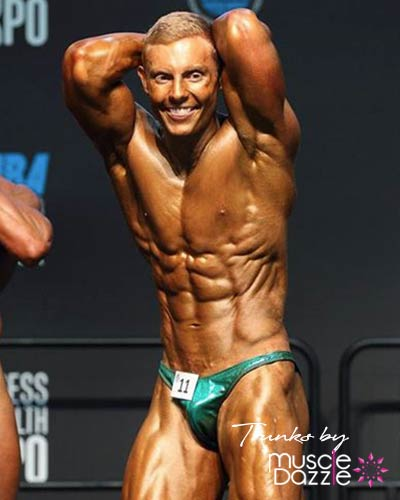 Green Bodybuilding Posing Trunks