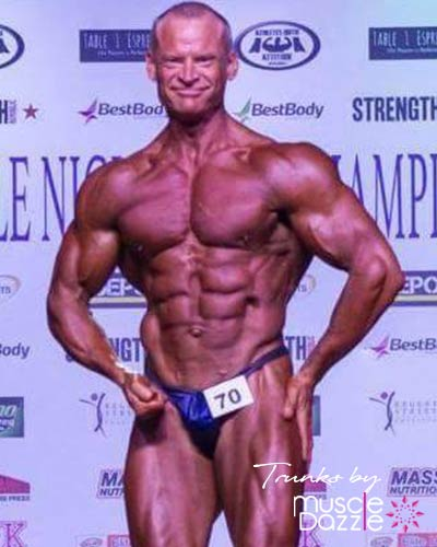 Dark Blue Bodybuilding Posing Trunks