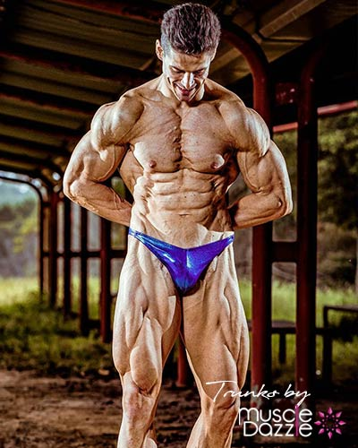 Blue / Purple Green Bodybuilding Posing Trunks